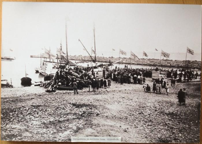 Invigningen av Grötviks hamn 1939-08-26